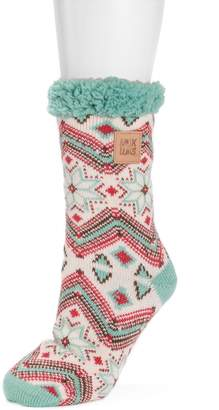 Muk Luks Women's Patterned Cabin Slipper Socks
