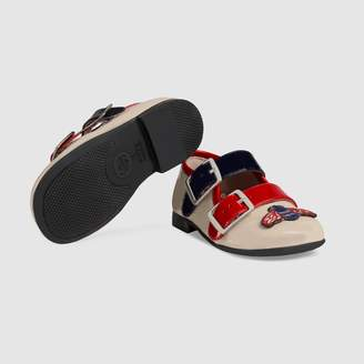 Gucci Toddler patent ballet flat with bee