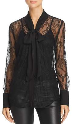 Equipment Luis Lace Tie-Neck Top
