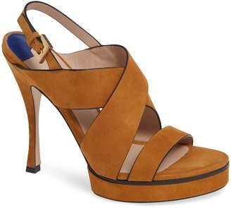 Stuart Weitzman Hester Cross Strap Sandal