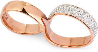 Swarovski Rose Gold-Tone Exist Double Ring