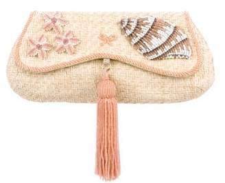 Anya Hindmarch Beaded Raffia Clutch