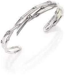 John Hardy Bamboo Sterling Silver Multi-Row Cuff Bracelet