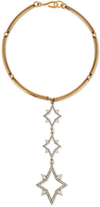 Lulu Frost Nova Linear Three-Star Collar Necklace $325 thestylecure.com