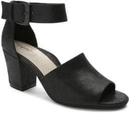 Tahari Pennie Shimmer Suede Sandals