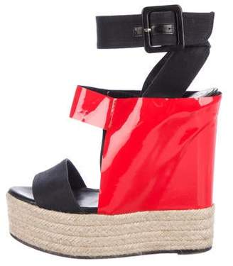 Pierre Hardy Patent Leather Platform Wedges