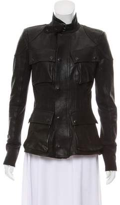 A.L.C. Collarless Leather Jacket
