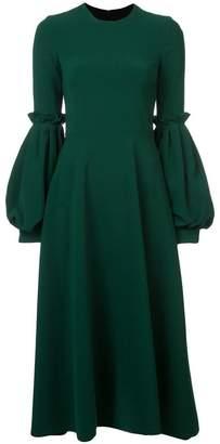 Christian Siriano puff sleeve midi dress