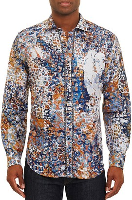 Robert Graham Limited Edition Transcendence Classic Fit Button-Down Shirt $398 thestylecure.com