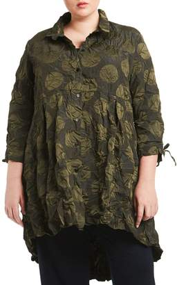 Toni T by Toni Plus Armond Memory Taffeta Dot-Print Shirt