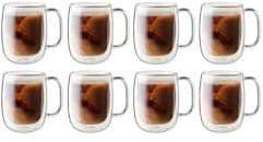 Zwilling J.A. Henckels Sorrento Plus 8-pc Double-Wall Glass Coffee Mug Set