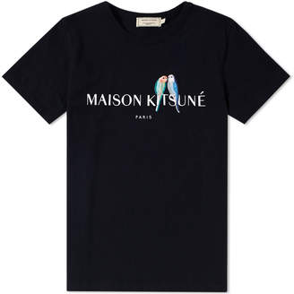 MAISON KITSUNÉ x END. Lovebirds Logo Tee