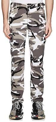 Balenciaga Men's Camouflage Cotton Cargo Pants - Light Gray