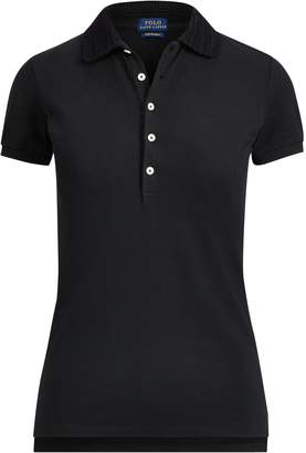 Ralph Lauren Slim Fit Crochet-Collar Polo