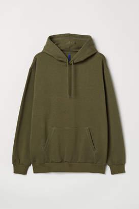 H&M Hooded Sweatshirt - Green