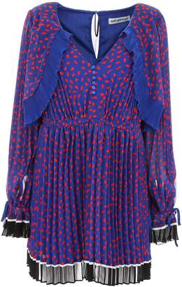 Self-Portrait Self Portrait Pleated Dress With Polka Dots