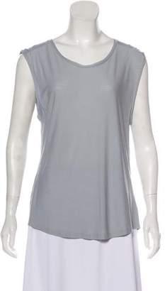 J Brand Short Sleeve Scoop-Neck Top