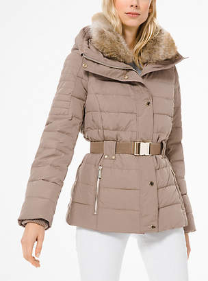 MICHAEL Michael Kors Quilted Down And Faux Fur Puffer Jacket