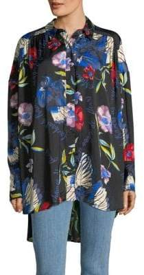 Free People Silky Nights Button-Down Shirt