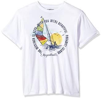 Margaritaville Men's Short Sleeve Paradise Island T-Shirt