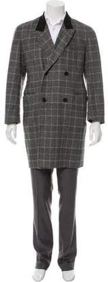Alexander McQueen Double-Breasted Cashmere Coat