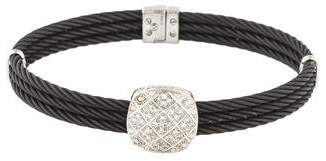 Charriol Diamond Cushion Station Bracelet