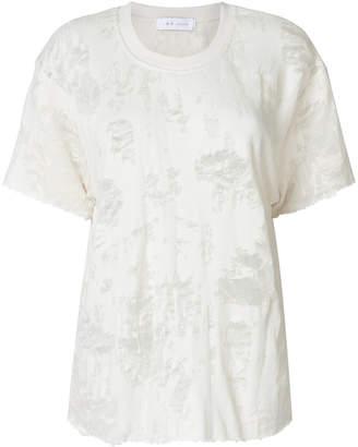 IRO frayed effect T-shirt