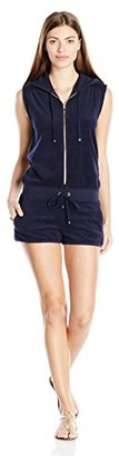 Juicy Couture Black Label Women's Logo Terry Sol Sequins Romper $248 thestylecure.com