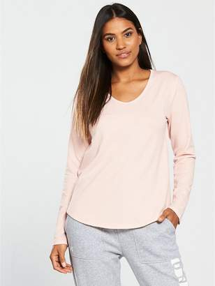 Under Armour Pindot Open Back Long Sleeve Top - Blush