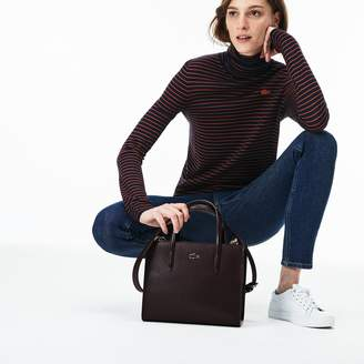Lacoste Women's Chantaco Pique Leather Zip Tote Bag