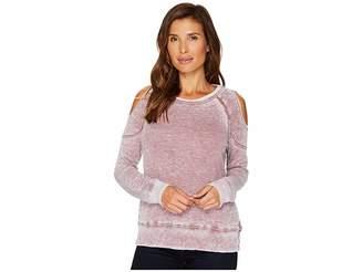 Allen Allen Cold Shoulder Sweatshirt Women's Long Sleeve Pullover