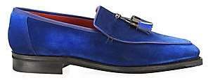 Corthay Men's Dover Tassel Pullman Suede Loafers