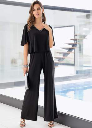 Together Beaded Double Layered Jumpsuit