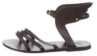 Ancient Greek Sandals Leather Wing-Accented Flats