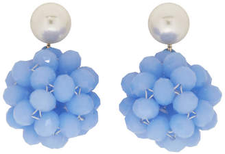 Marc Jacobs Blue Pearl Crystal Ball Drop Earrings