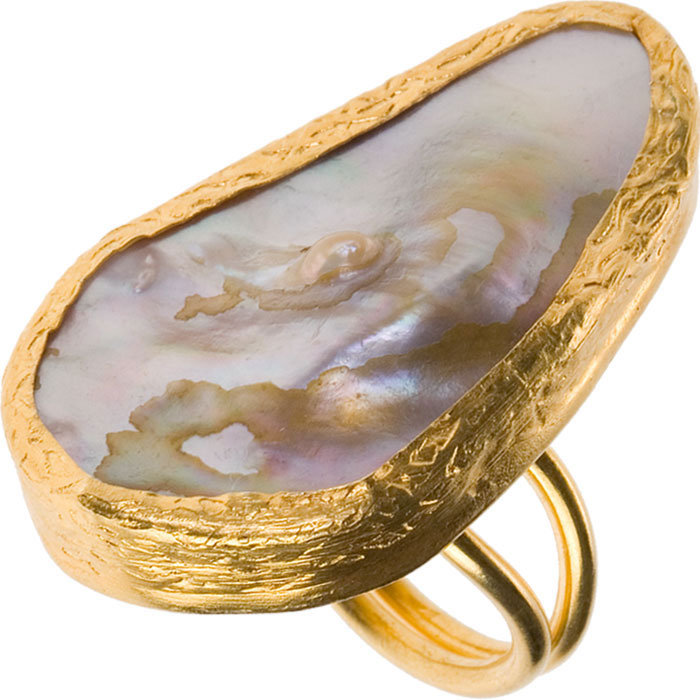 Warrior Princess Mother of Pearl Ring by Little Gems