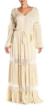 Free People Sada Lace Inset Patterned Maxi Dress