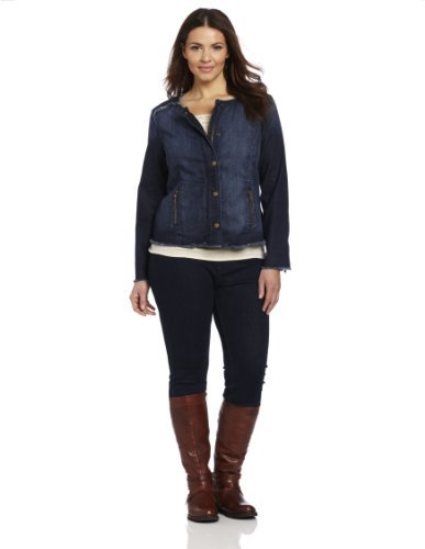 Lucky Brand Women's Plus-Size Adamson Cropped Denim Jacket