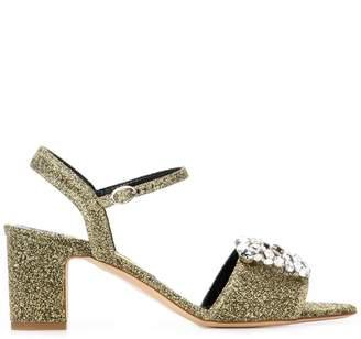 Rupert Sanderson embellished buckle sandals