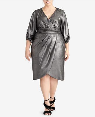 Rachel Roy Trendy Plus Size Metallic Wrap Dress