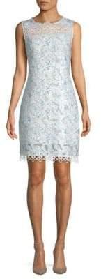 Elie Tahari Ramira Printed Scalloped Dress