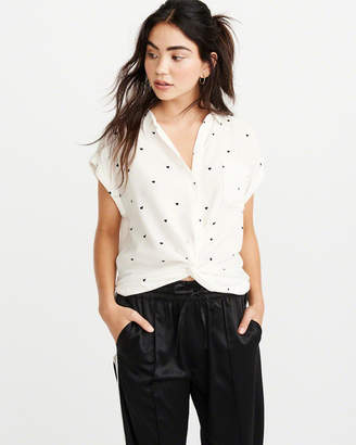 Abercrombie & Fitch Knot-Front Blouse