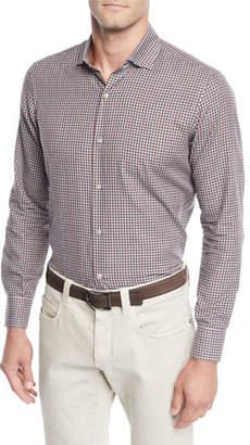 Loro Piana Men's Flannel Check Sport Shirt