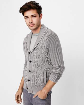 Express Garment Dyed Shawl Cardigan