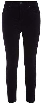 Citizens of Humanity Velvet Rocket Crop High Rise Skinny Trousers