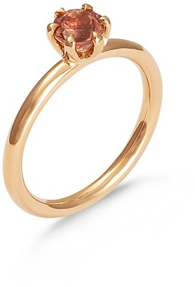 Hargreaves Stockholm Stardust - 18Ct Gold & Peach Tourmaline Single Stone Ring