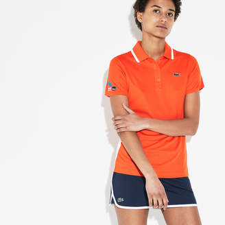 Lacoste Women's SPORT Miami Open Oversized Croc Pique Tennis Polo