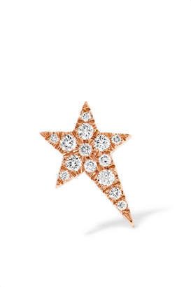 Diane Kordas Star 18-karat Rose Gold Diamond Earring
