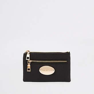 River Island Black snake print trim mini purse