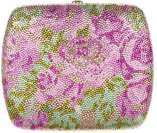Judith Leiber Crystal-Embellished Floral Minaudière $1,075 thestylecure.com